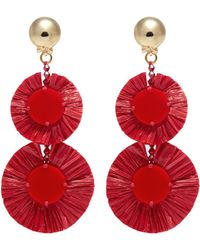 Oscar De La Renta Raffia earrings KzY0Sc