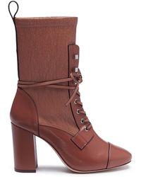 Stuart Weitzman - 'veruka' Lace-up Leather Mid-calf Boots - Lyst