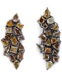 Monique Péan - 'atelier' Diamond 18k Gold Earrings - Lyst
