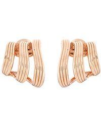 Fernando Jorge - 'stream Lines Triple Hoops' 18k Rose Gold Earrings - Lyst