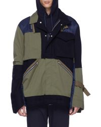 Sacai - Chest Pocket Patchwork Jacket - Lyst