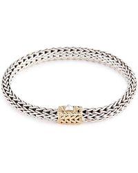 John Hardy - 18k Yellow Gold Silver Woven Chain Bracelet - Lyst