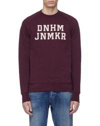 Denham - 'dnhm Jnmkr' Logo Print Sweatshirt - Lyst