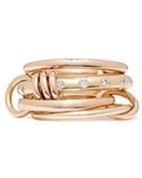 Spinelli Kilcollin - 'lyra Gold' Diamond 18k Gold Four Link Ring - Lyst