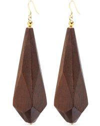 Kenneth Jay Lane - Geometric Wooden Drop Earrings - Lyst