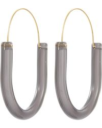 Kenneth Jay Lane - U-shaped Hoop Earrings - Lyst