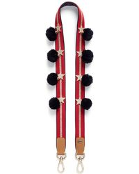 Venna - Cubic Zirconia Star Pompom Stripe Guitar Strap - Lyst