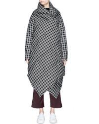 Ffixxed Studios - Tartan Check Extended Shawl Oversized Puffer Jacket - Lyst