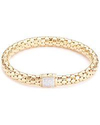 John Hardy - Diamond 18k Yellow Gold Dotted Bracelet - Lyst