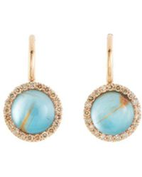 Roberto Coin - 'cocktail' Diamond Agate Chalcedony Drop Earrings - Lyst