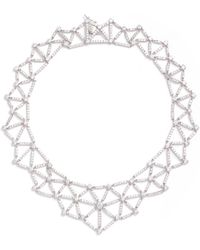 CZ by Kenneth Jay Lane - Cubic Zirconia Spider Web Necklace - Lyst