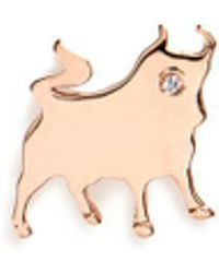 Loquet London - Diamond 18k Rose Gold Chinese New Year Charm – Ox - Lyst