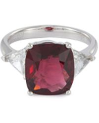 LC COLLECTION - Diamond Spinel Platinum Ring - Lyst