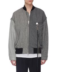 Song For The Mute - Rope Chain Check Plaid Patchwork Bomber Jacket - Lyst