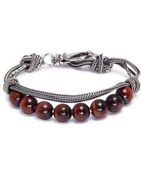 Emanuele Bicocchi - Stone Beaded Knotted Chain Bracelet - Lyst
