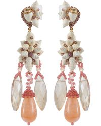 Erickson Beamon - 'enchanted World' Seashell Cluster Drop Earrings - Lyst
