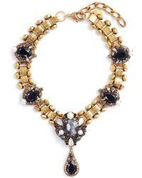 Erickson Beamon - 'dark Shadows' Swarovski Crystal Link Chain Pendant Necklace - Lyst