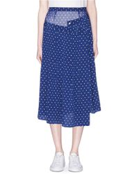Sandy Liang - Lighter Polka Dot Print Layered Silk Skirt - Lyst