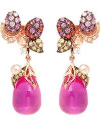 Anabela Chan - 'pinkberry' Diamond Gemstone Freshwater Pearl Drop Earrings - Lyst