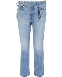 Tortoise - 'tufa' Colourblock Patch Pocket Tie Jeans - Lyst