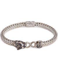 John Hardy - Sapphire Spinel Topaz Silver Macan Bracelet - Lyst