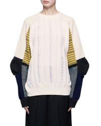 Toga | Colourblock Panel Perforated Sweater | Lyst
