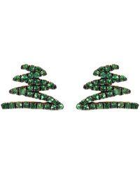 Khai Khai - 'zigzag' Tsavorite 18k Yellow Gold Earrings - Lyst