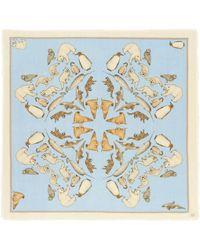 Cjw - 'winter Animals Mini' Graphic Print Wool Scarf - Lyst