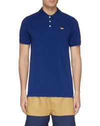 b549a4d8626ff Givenchy Star Appliqué Polo Shirt in Blue for Men - Lyst