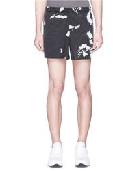 Neil Barrett - Reflective Camouflage Print Shorts - Lyst