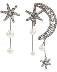 Jennifer Behr - 'cosmos' Swarovski Crystal Mismatched Drop Earrings - Lyst