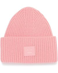 Acne Studios - 'pansy N Face' Emoticon Patch Beanie - Lyst
