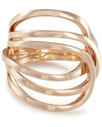 Repossi - 'la Ligne C' 18k Rose Gold Ring - Lyst