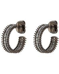 CZ by Kenneth Jay Lane - Cubic Zirconia Half Hoop Earrings - Lyst