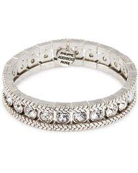 Philippe Audibert - 'lilas' Swarovski Crystal Braid Effect Elastic Bracelet - Lyst
