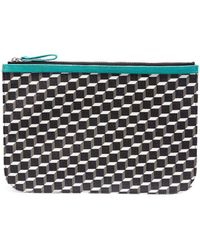 Pierre Hardy - 'perspective Cube' Print Large Pouch - Lyst