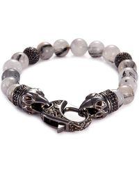 Stephen Webster | 'beasts Of London Raven Head' Sapphire Quartz Bead Bracelet | Lyst