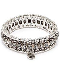 Philippe Audibert - 'roselynette' Swarovski Crystal Bead Elastic Bracelet - Lyst
