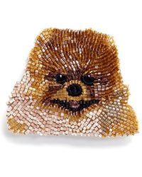 Mignonne Gavigan - Beaded Dog Brooch – Pomeranian - Lyst