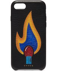 Chaos - Flame Print Leather Iphone 7/8 Case - Lyst