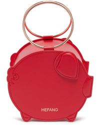HEFANG - 'adorable Piggy' Ring Handle Leather Jewellery Box - Lyst