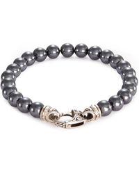 Stephen Webster | 'beasts Of London' Hematite Bead Silver Bracelet | Lyst