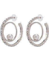 Joomi Lim - 'saturn Stunner' Swarovski Crystal Pearl Double Hoop Earrings - Lyst