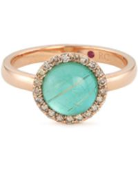 Roberto Coin - 'cocktail' Diamond Chalcedony 18k Rose Gold Ring - Lyst