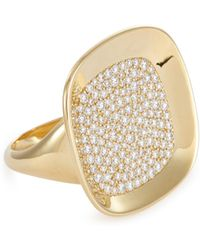 Roberto Coin - 'carnaby Street' Diamond 18k Yellow Gold Ring - Lyst