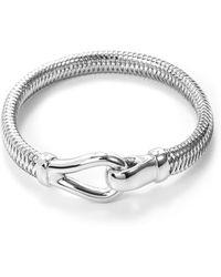 Roberto Coin - 'primavera' 18k White Gold Small Bracelet - Lyst