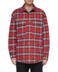 d19f4d4862 Lyst - Fear Of God Yellow Flannel Check Shirt in Yellow for Men