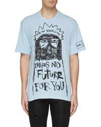 e5f4bc3c6fe Haculla -  theres No Future For You  Slogan Graphic Print T-shirt -