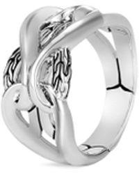 John Hardy - 'asli Classic Chain' Engraved Silver Ring - Lyst