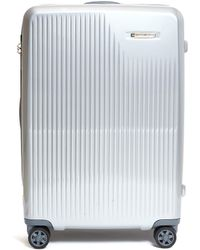 Briggs & Riley Sympatico Medium Expandable Spinner Limited Edition Suitcase – Silver